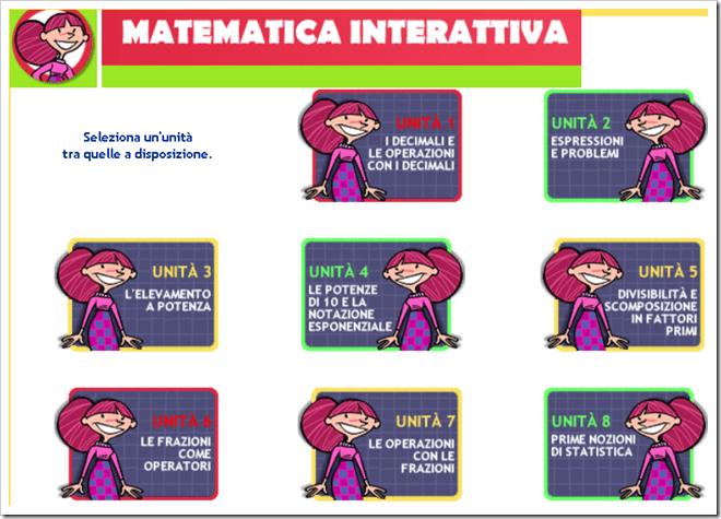 Matematica interattiva per la scuola media