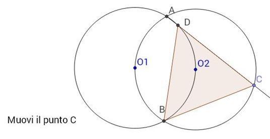 Dimostriamo una proprietà di due circonferenze secanti