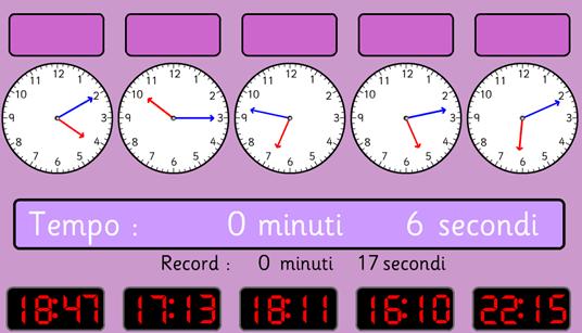 Risultati immagini per leggere l'orologio