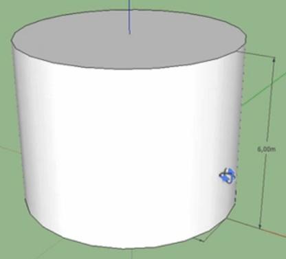 Come costruire il cilindro ruotando il rettangolo