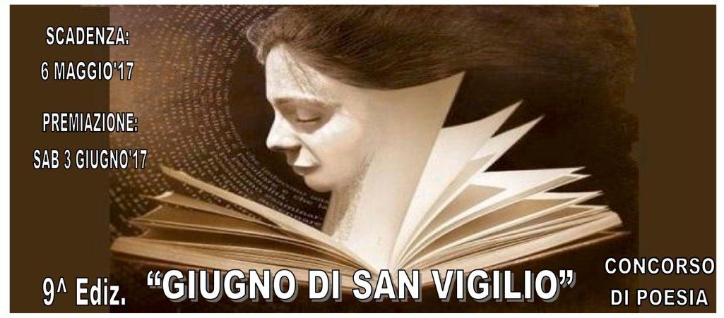 """9° Concorso Nazionale di Poesia """"Giugno di San Vigilio"""" 2017"""
