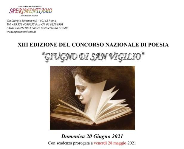 """XIII Concorso Nazionale di Poesia """"Giugno di San Vigilio"""""""