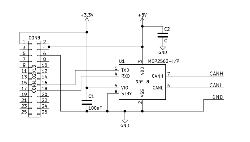 Banana PI/Pro CAN/Railroad Interface