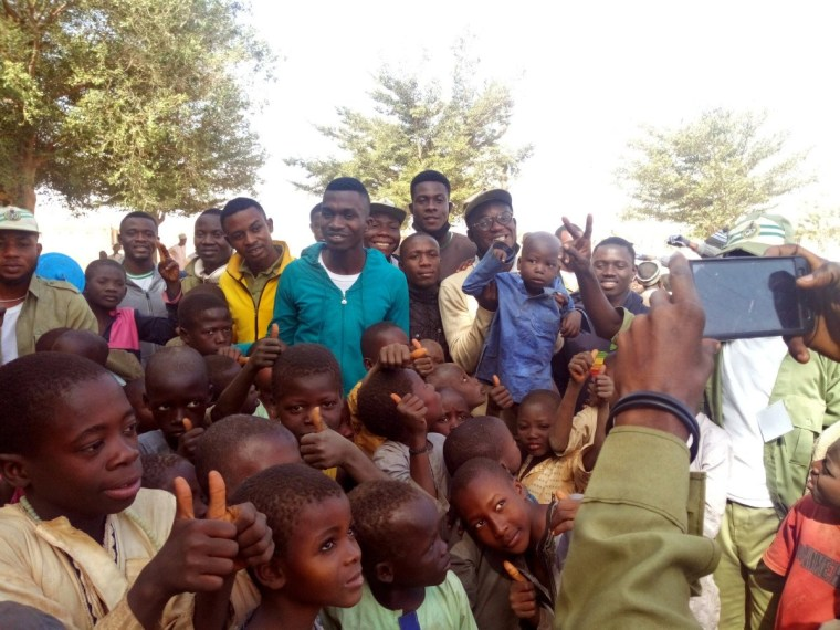 Myself with some Almajiri Kids during the Community Outreach in Augie