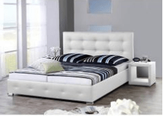 Bed Joey White (180x200cm) - including mattress - (Bundle Product)