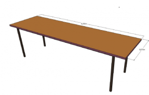 Brown Conference Table