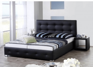 Bed Joey Black (160x200cm) - including mattress - (Bundle Product)