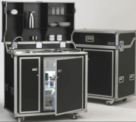 Kitcase Luggage Kitchen With Refrigerator