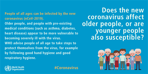 Does the new coronavirus affect older people, or are younger people also susceptible?