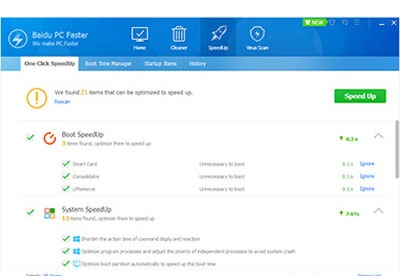 Baidu PC Faster download free for Windows 10 64/32 bit - Computer Clean Up