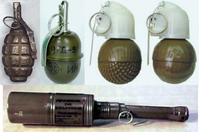 Offensive hand grenades in modern conflicts