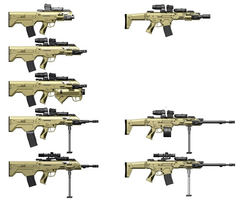 MSBS Family of Firearms, concept drawings