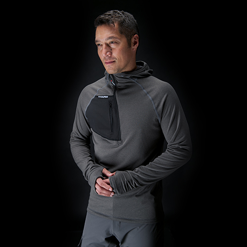 NW Alpine Black Spider Hoody: Functional in a wide variety of conditions