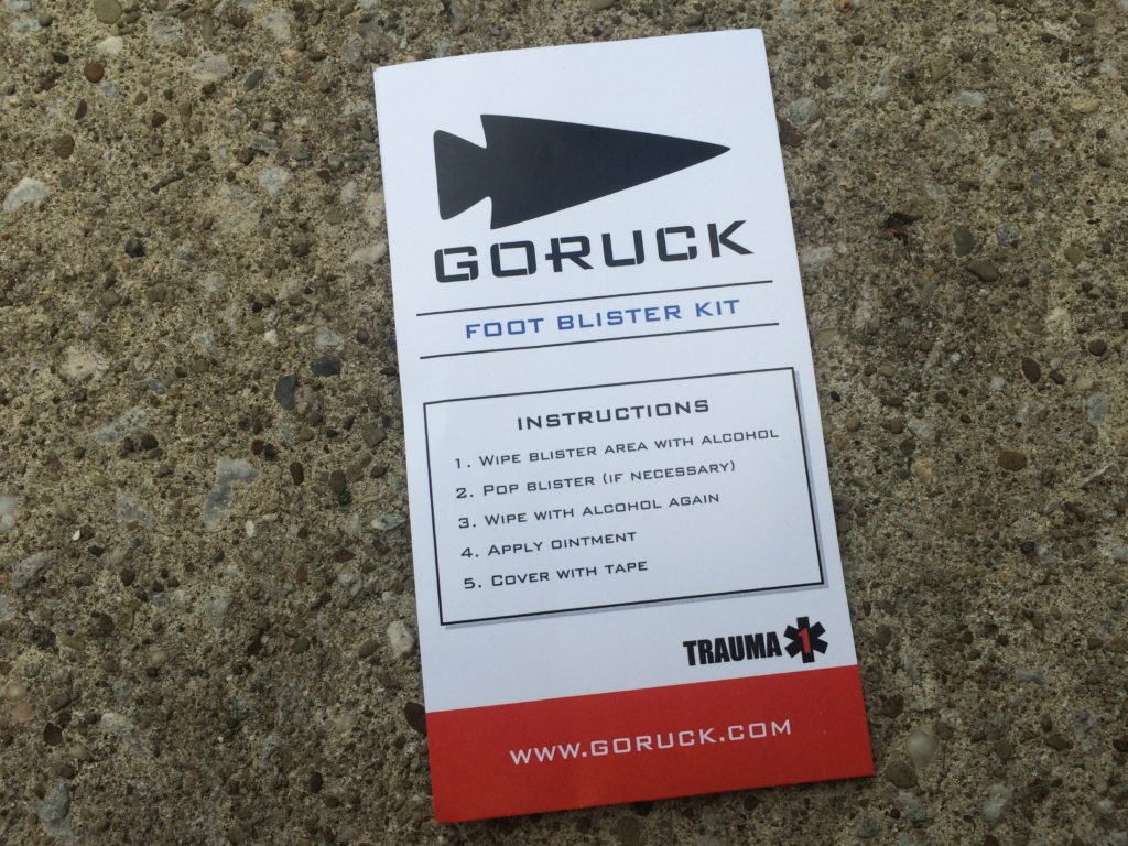 GORUCK Foot Blister Kit | Foot care for the Athlete