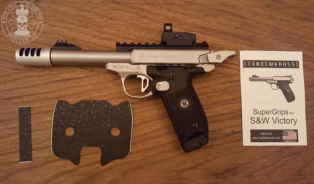 """New Grip For Your S&W .22 Victory – Trandemkross """"SUPERGRIPS"""""""