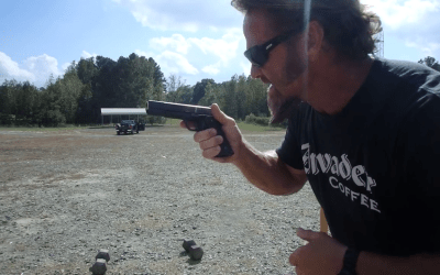 Watch: Run and gun with dumbells