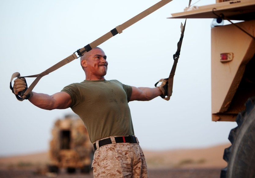 Loadout Room photo of the day | Pumping Iron: Marines stay fit on the road