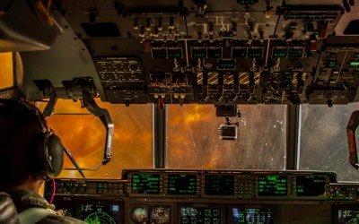 Loadout Room photo of the day | U.S. Air National Guardsmen from 146th Airlift Wing battle Pier Fire with C-130 fire fighting aircraft