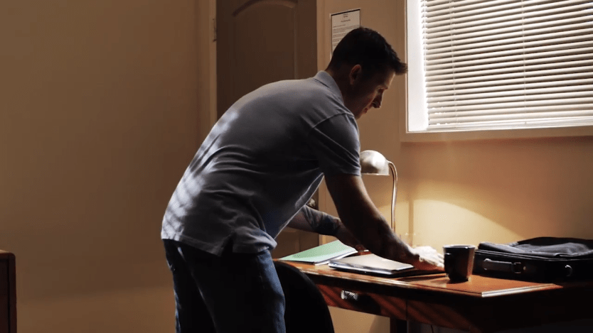 Watch: Detect tampering of personal effects in a hotel room