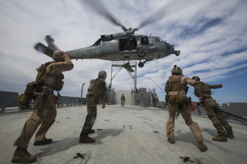 Loadout Room photo of the day: Force Recon Marines practice ship raids