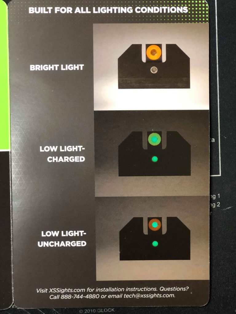 Fastest Sights in Any Light, Choose XS F8 Night Sights