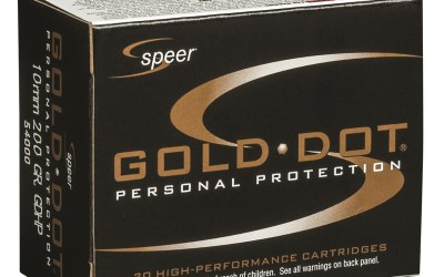Speer's New Gold Dot 10mm Auto Personal Defense Load Delivers Power and Performance