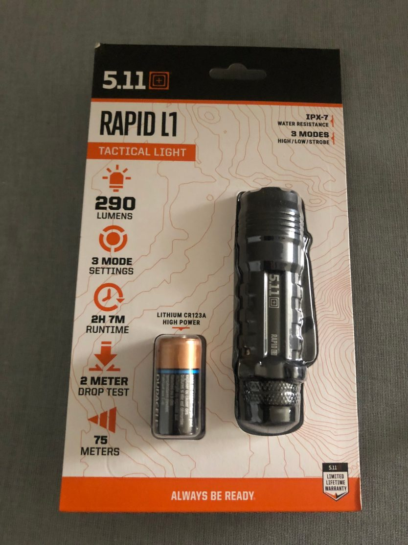 5.11 Tactical Rapid L1: A Portable yet Powerful EDC Light