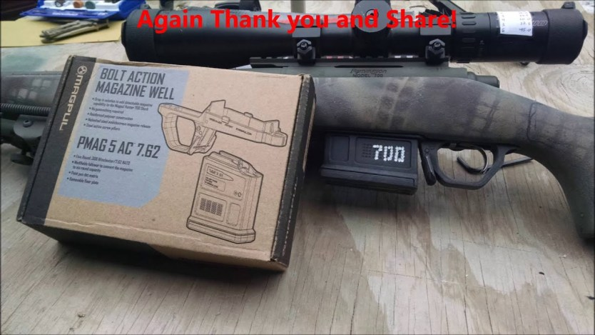 Remington 700 Magpul detachable box mag install