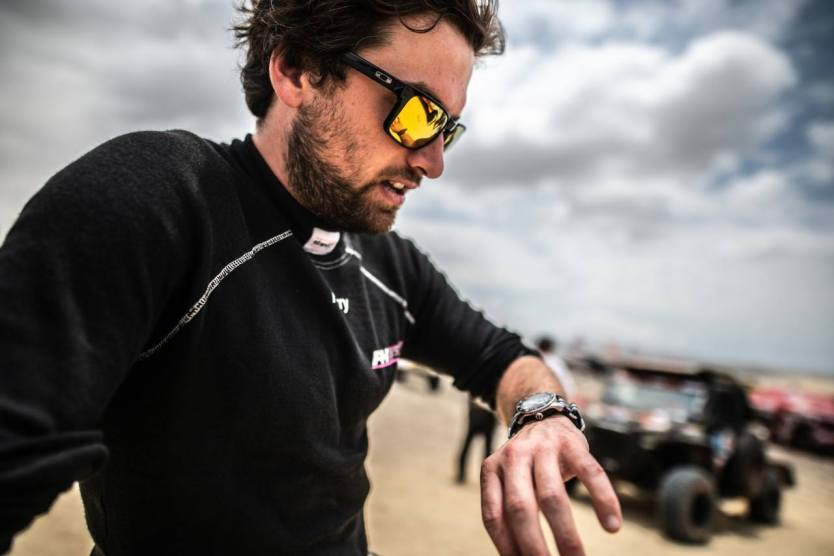 Photo of the day: Harry Hunt preparing for the next stage of the Dakar Rally