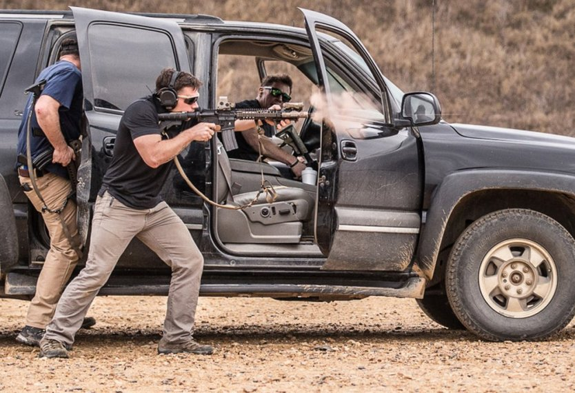 MARSOC tactical driving and shooting course
