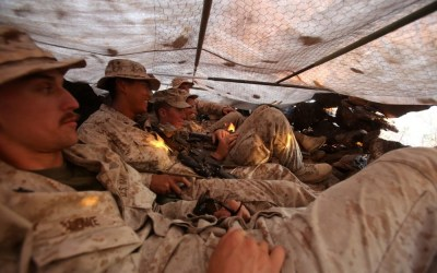 Photo of the day: Scout Sniper team remains undetected in their hide site