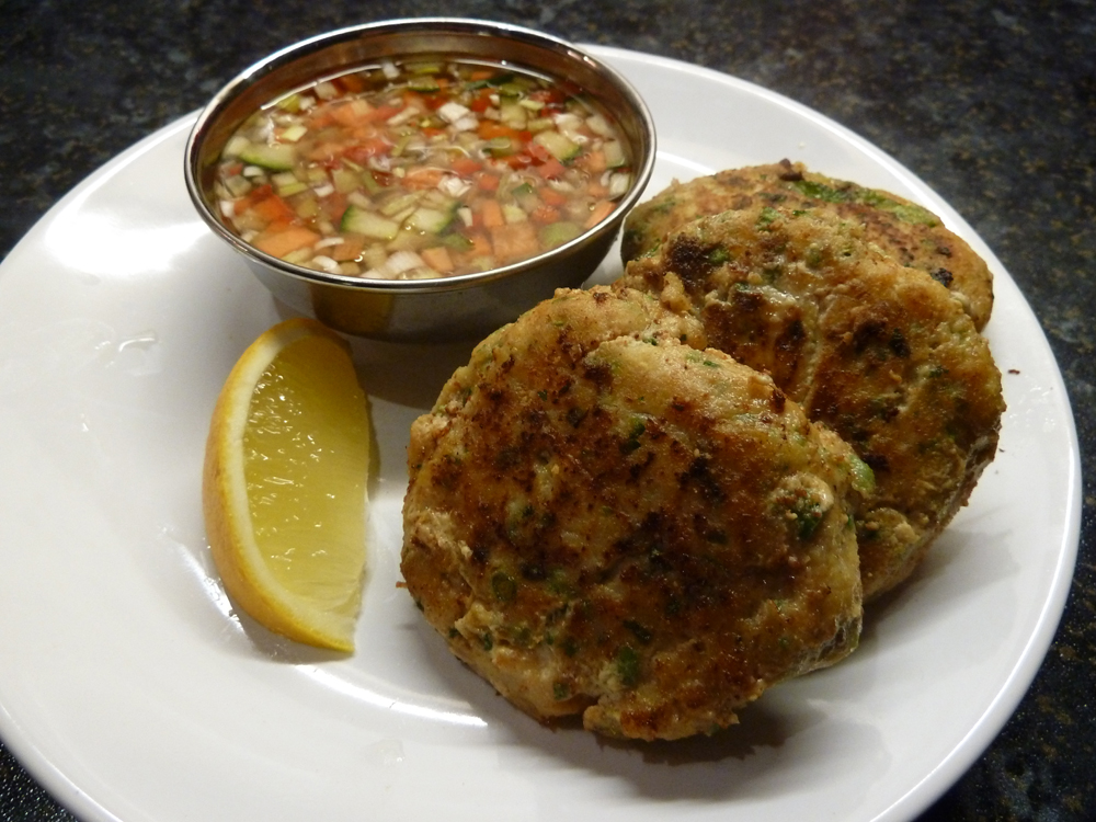 red thai curry fish cakes