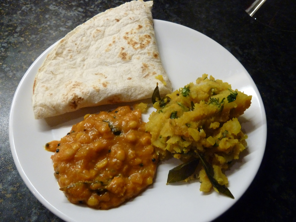 dal and masala potato
