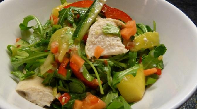 Chicken and mango salad