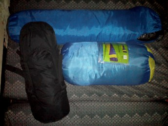 Tent and sleeping bags