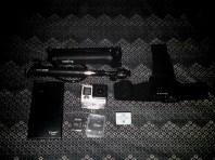 GoPro Hero 4, quik pod explorer 3, 3-way mount, extra battery, memory cards, head strap