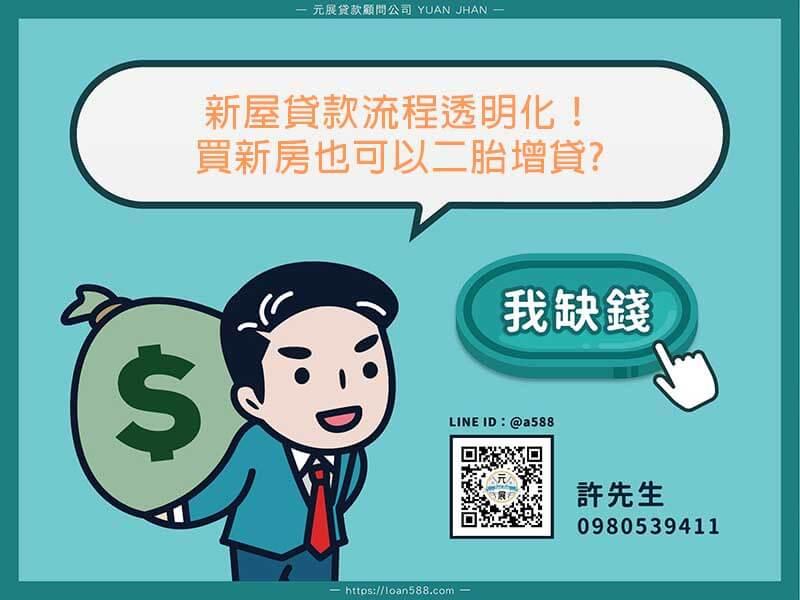 新屋貸款流程透明化!買新房也可以二胎增貸?