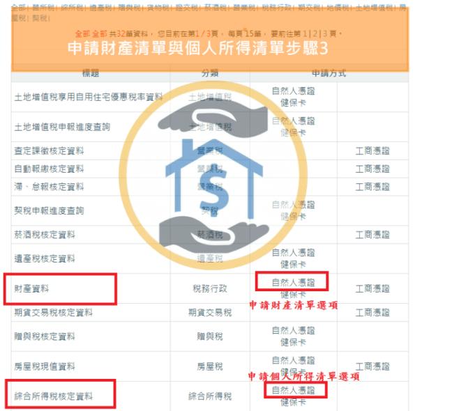 申請財產清單步驟3