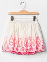 bright eyelet flippy skirt