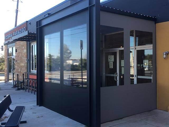 Custom Enclosure Amp Fabric Vestibules Amp Exterior Shades Loane Bros Inc