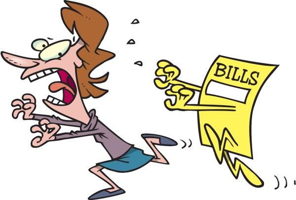 Cartoon Paying Bills Clip Art