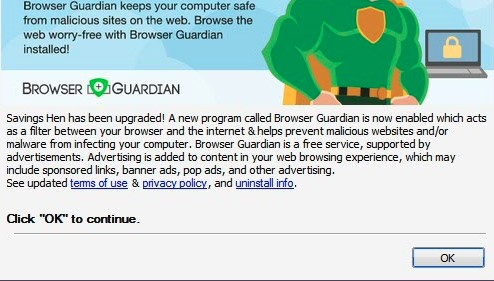 Browser Guardian adware