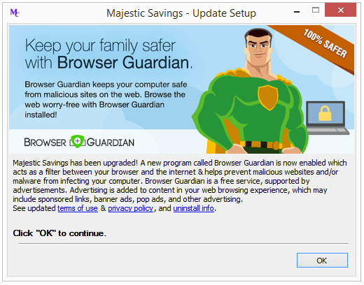 Majestic Savings adware