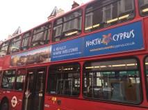 Occupied Cyprus London bus advert