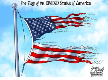 Divided flag of the United States