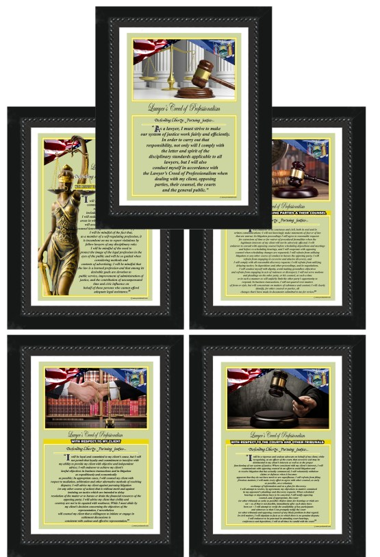 New York State Lawyer's Creed BLK1-5 Prints