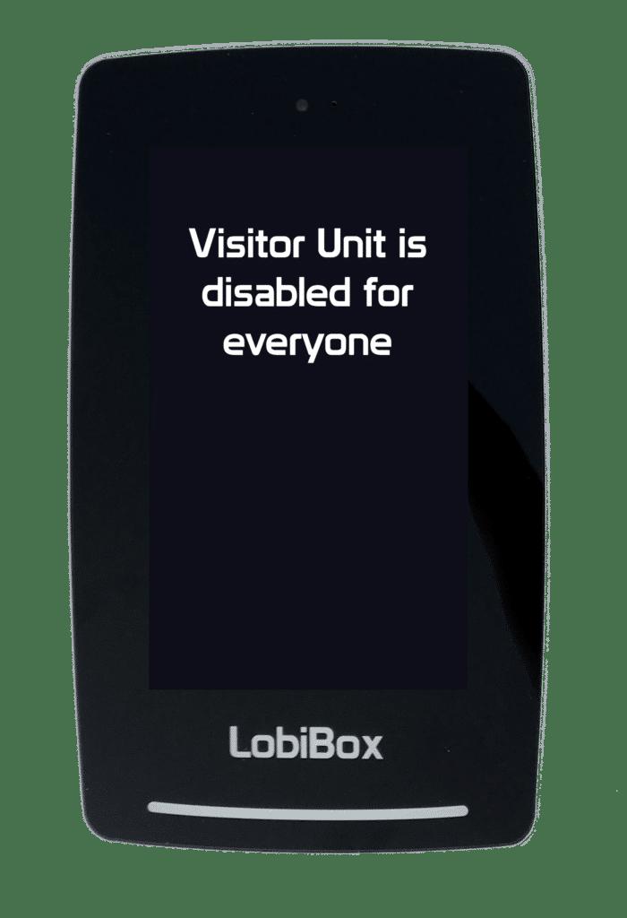LobiCom central security Lockdown disable visitor unit