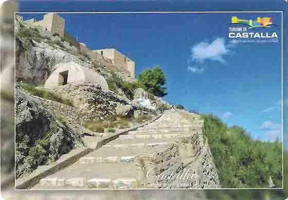 Postal del Castillo de Castalla, Turismo de Castalla. Foto: Rafael Zurita