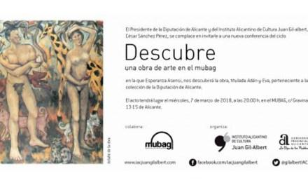 Esperanza Asensi desgrana su obra «Adan y Eva»  en en ciclo 'Descubre una obra de arte en el MUBAG'