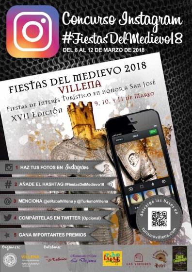 Cartel Concurso Instagram Fiestas del Medioevo de Villena